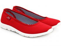 Women's ballerinas Las Espadrillas 22636-47SP (red)