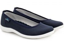 Women's ballerinas Las Espadrillas La Coste Navy Canvas 300816-89