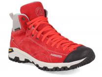 Red shoes Red Vibram Forester 247951-471 Made in Italy
