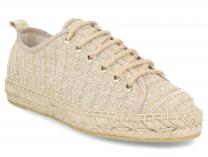 Damskie эспадрильи Las Espadrillas Oro FE0894-18 Made in Spain
