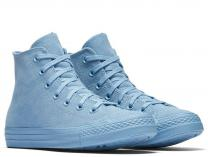 Damskie trampki Converse Chuck Taylor All Star Mono Suede High Top 561729C Light Blue