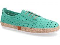 Текстильная обувь Las Espadrillas 10129-22 унисекс   (зеленый)