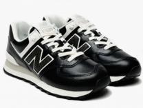 Кожаные кроссовки New Balance WL574PL2