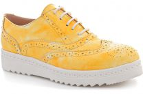 Women's brogues Las Espadrillas Yellow Ski 02100-15