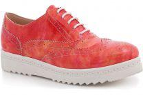 Туфли Las Espadrillas 02100-16 унисекс   (красный)