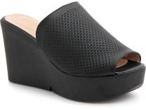 Women's clogs Las Espadrillas 28233-27 (black)