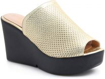 Women's clogs Las Espadrillas 28233-79 (the Golden)