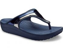 Женские сандалии Crocs Sloane Metal Block Flip W Multi/Navy 205357- 4JD