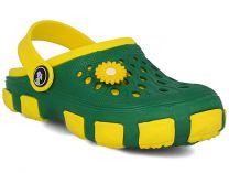Кроксы Jose Amorales 116120 унисекс   (зеленый/жёлтый)