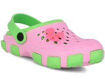 Кроксы Jose Amorales 116123 унисекс   (розовый/зеленый)