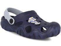 Кроксы Jose Amorales 117085 унисекс   (синий/серый)