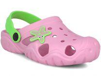 Детские кроксы Jose Amorales Pink Star 117082   (розовый)