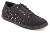 Текстильная обувь Las Espadrillas 005 унисекс   (чёрный)