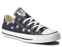 Кеды Converse Chuck Taylor All Star  Ox Navy/Fresh Yellow/White 555977C Denim Daisy унисекс   (тёмно-синий/синий)