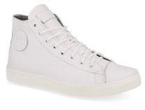 Mens leather shoes Forester 132125-13 (white)