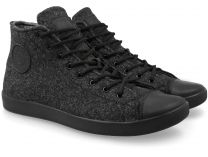 The Forester men's sneakers Dark Grey Wool 132125-39 (Dark grey)