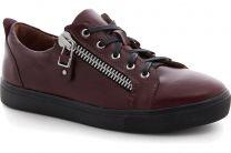 Sneakers Las Espadrillas Zipper Low 1642-260237 Marsala Leather
