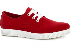 Sneakers Las Espadrillas 4574-47 Sh Red Canvas