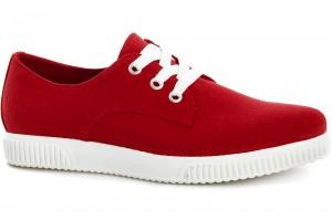 Sneakers Las Espadrillas 4574-47 Sh Red Canvas