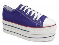 Женская текстильная обувь Las Espadrillas 6408-24   (фиолетовый)