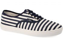 Sneakers Las Espadrillas Odessa laces 8214 men's V-1389TL Canvas Stripes