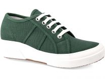 Кеди на танкетці Las Espadrillas SuperGa Heel 5366-22 Green Canvas