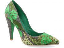 Вечерние туфли KHMARA 130692 унисекс   (зеленый/серый)