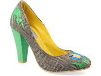 Вечерние туфли KHMARA 130694 унисекс   (зеленый/серый)