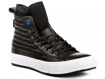Leather sneakers Converse Chuck Taylor All Star Waterproof Boot Quilted Leather 157492C unisex (Black)