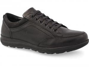 Комфортні туфлі Greyder 60484 Чорна шкіра
