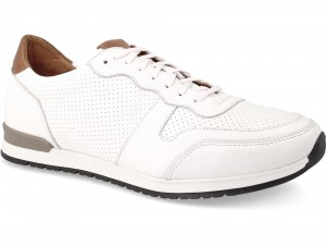 Forester Casual Sneakers White Leather Jazz 03-0691-004