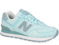 Женские кроссовки New Balance WL574SWB   (мятный)