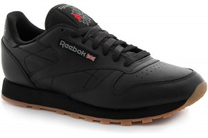 Кроссовки Reebok Classic Leather Black/Gum 49800   (чёрный)