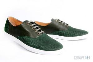 Мужские туфли Las Espadrillas 1375-14779   (зеленый)