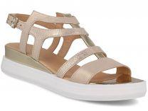Жіночі сандалі Las Espadrillas 033-5-79 (злотистий)