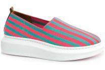 Espadrilles Las Espadrillas 037-2015-75 unisex (Pink,Green)