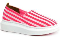 Summer shoes Las Espadrillas Freerun 037-2015-78 pink stripes