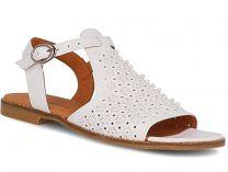 Женские сандалии Las Espadrillas 0378-61-21 (белый)