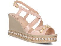 Womens sandals Las Espadrillas 0428-812-86 (powder/rose)