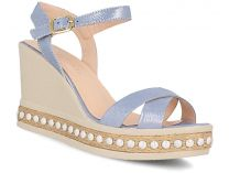 Womens sandals Las Espadrillas 0428-813-53 (blue)