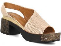 Женские сандалии Las Espadrillas 0435-190-39-439   (золотистий)