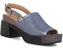 Жіночі босоніжки Las Espadrillas 0435-194-39 (Блакитний)