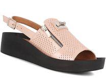 Жіночі сандалі Las Espadrillas 0449-17449-318 (Пудра)