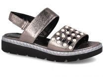 Женские сандалии Las Espadrillas 0482-276-234    (серебряный/серый)