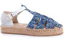 Sandals on jute outsole Las Espadrillas 1443-40