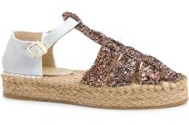 Sandals on jute outsole Las Espadrillas 1443-45