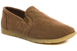Men's moccasins Las Espadrillas Brown jeans 15070-45