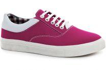 Текстильная обувь Las Espadrillas 1508-05 унисекс   (баклажановый /розовый)