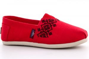 Embroidered espadrilles Las Espadrillas 3015-60 Red len