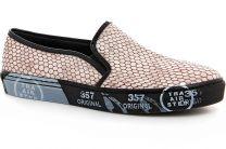 Leather slip ons Las Espadrillas Snake 4510505-18Sl